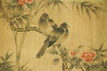 Lot 82: Yun Shouping 1633-1690 Chinese Watercolor Scroll