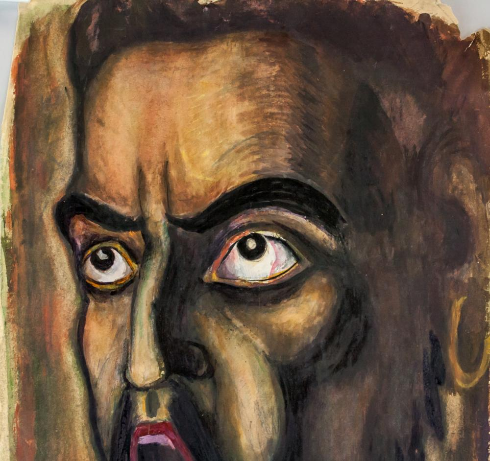 Lot 91: Otto Dix German Expressionist Mixed Media on Paper