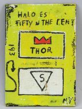 Lot 94: Jean-Michel Basquiat US Pop Art Mixed Media