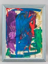 Lot 148: Joan Mitchell American Abstract Oil on Canvas