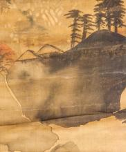 Lot 150: Cheng Zhang Chinese Watercolor on Silk