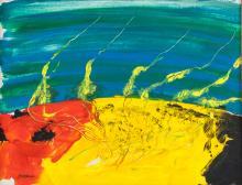 Lot 109: Howard Hodgkin British Abstract Acrylic on Canvas