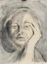 Lot 110: Kathe Kollwitz German Expressionist Charcoal & WC