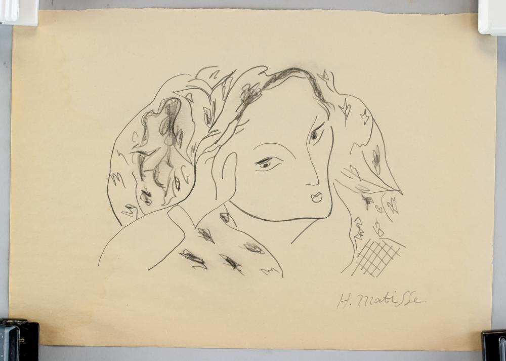 Lot 111: Henri Matisse French Fauvist Graphite on Paper