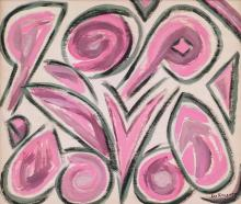 Lot 114: Lee Krasner American Abstract Oil on Canvas