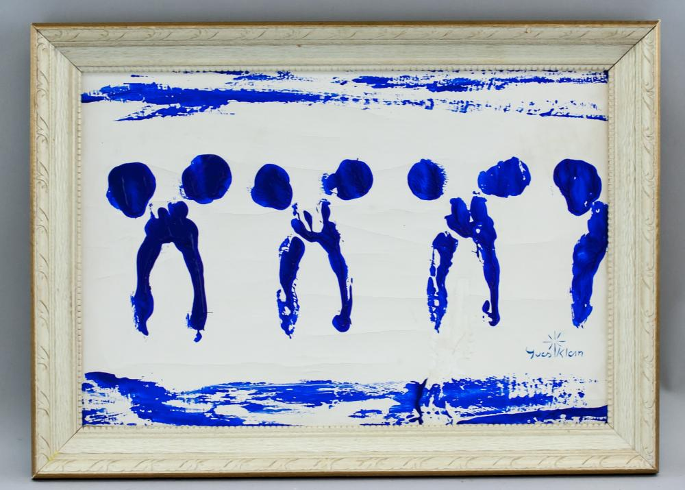 Lot 113: Yves Klein French Minimalist Oil on Canvas