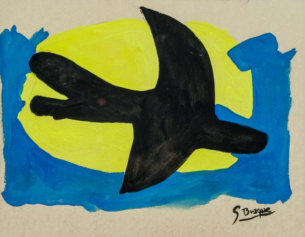 Lot 117: Georges Braque French Fauvist Gouache on Paper