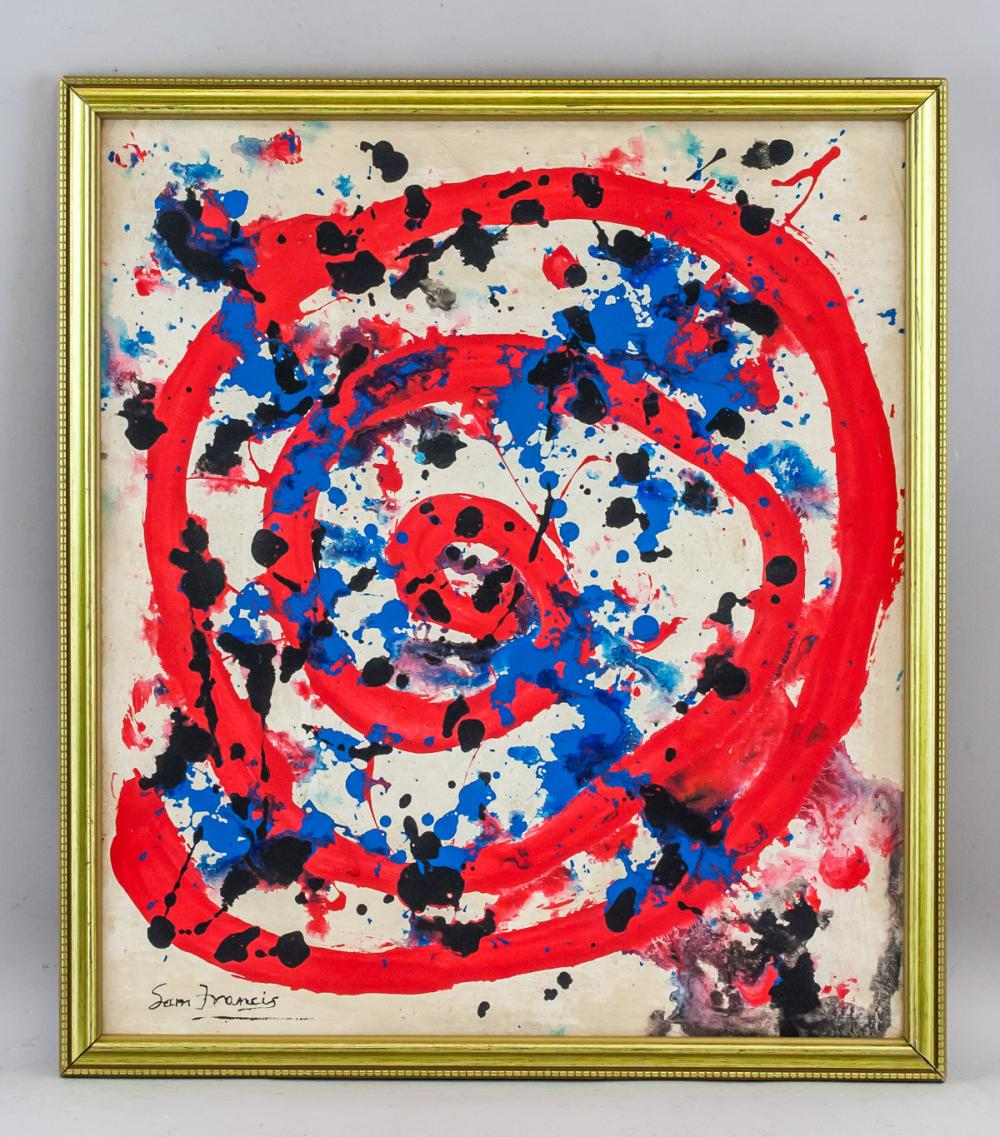 Lot 127: Sam Francis American Abstract Oil on Canvas
