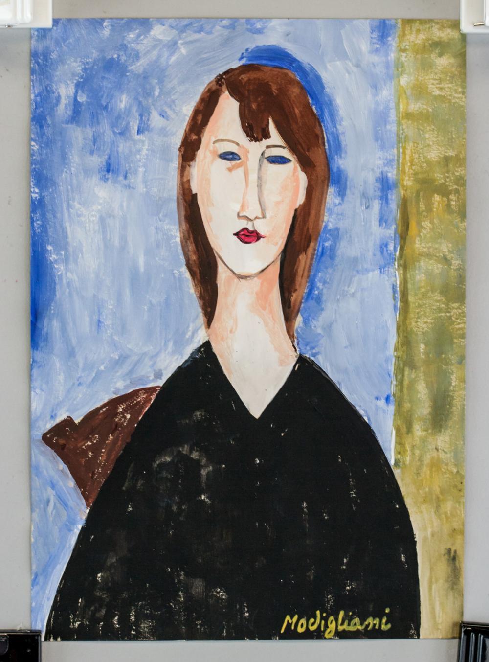 Lot 124: Amedeo Modigliani Italian Fauvist Gouache Paper