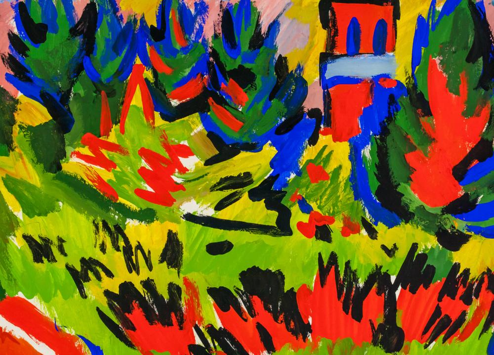 Lot 130: Erich Heckel German Expressionist Oil Gouache