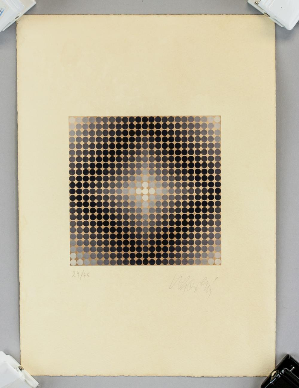 Lot 136: Victor Vasarely French-Hungarian Lithograph
