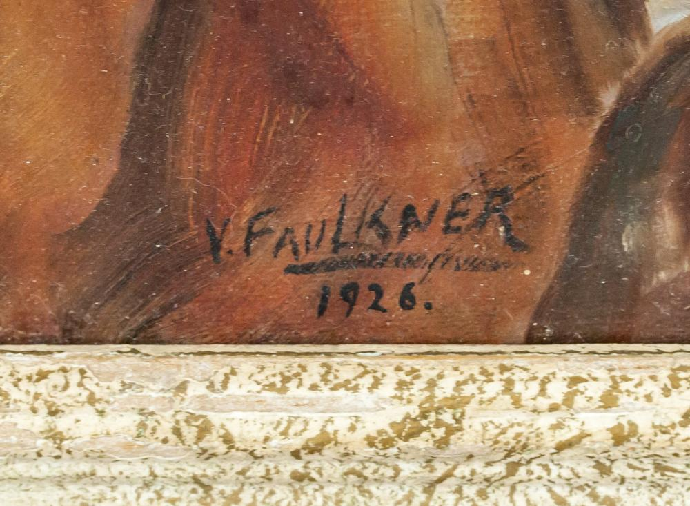 "Lot 138: Oil on Canvas Signed V. Faulkner ""1926"""
