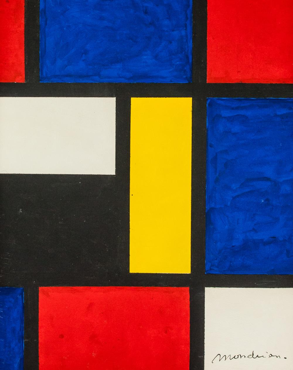 Lot 139: Piet Mondrian Dutch De Stijl Oil on Canvas