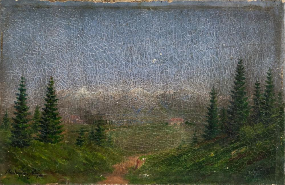 Laszlo Mednyanszky Hungarian Modernist Oil Board