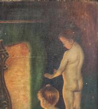 "Lot 144: Canadian Oil on Canvas Framed Portrait ""050"""