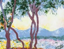 Lot 140: Jennifer Brudher Canadian Oil on Panel Landscape