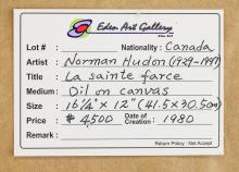 Lot 199: Normand Hudon Canadian Figurative Oil on Canvas