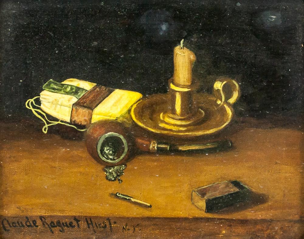 Claude Raguet Hirst NY American Oil Canvas Still