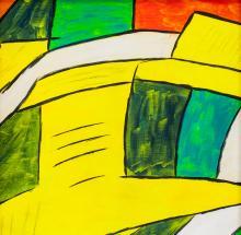 Lot 153: Karl Knaths American Cubist Oil on Canvas