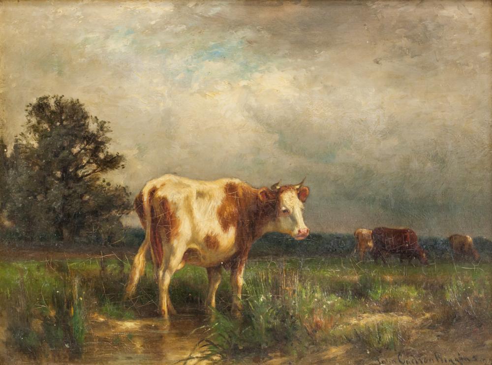 John Carleton Wiggins American Impressionist Oil