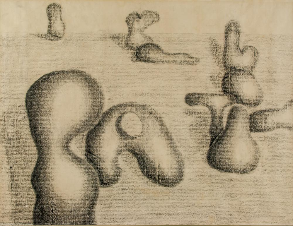 Lot 159: Henry Moore British Modernist Graphite on Paper