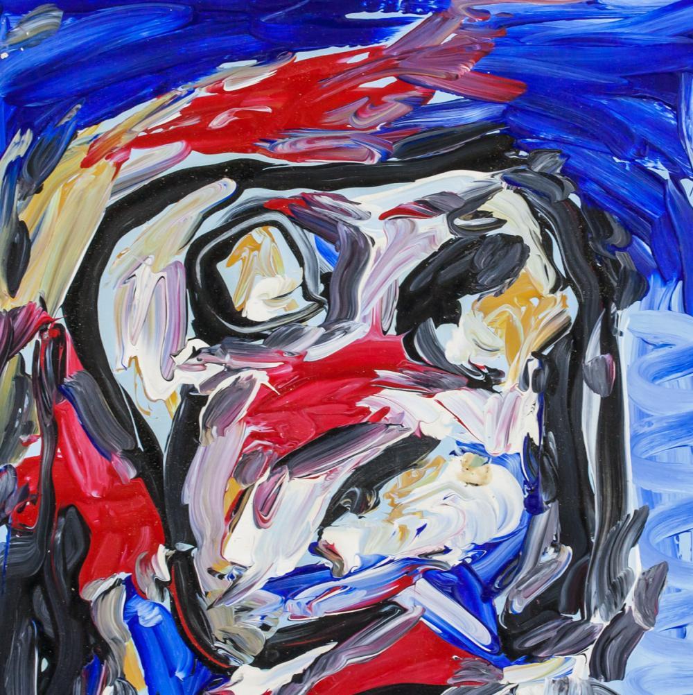 Lot 164: Karel Appel Dutch Abstract Oil on Canvas Portrait