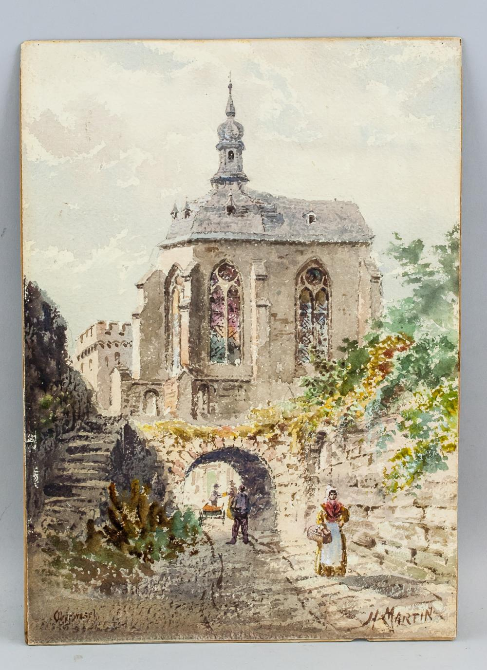 "Lot 167: Henry Martin Canadian Watercolor Board ""Montreal"""