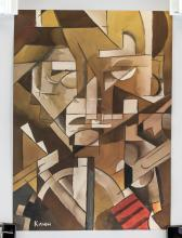 Lot 170: Ivan Kliun Russian Modernist Gouache on Paper