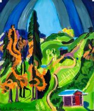 Lot 172: Ernst Ludwig Kirchner German Expressionist Oil