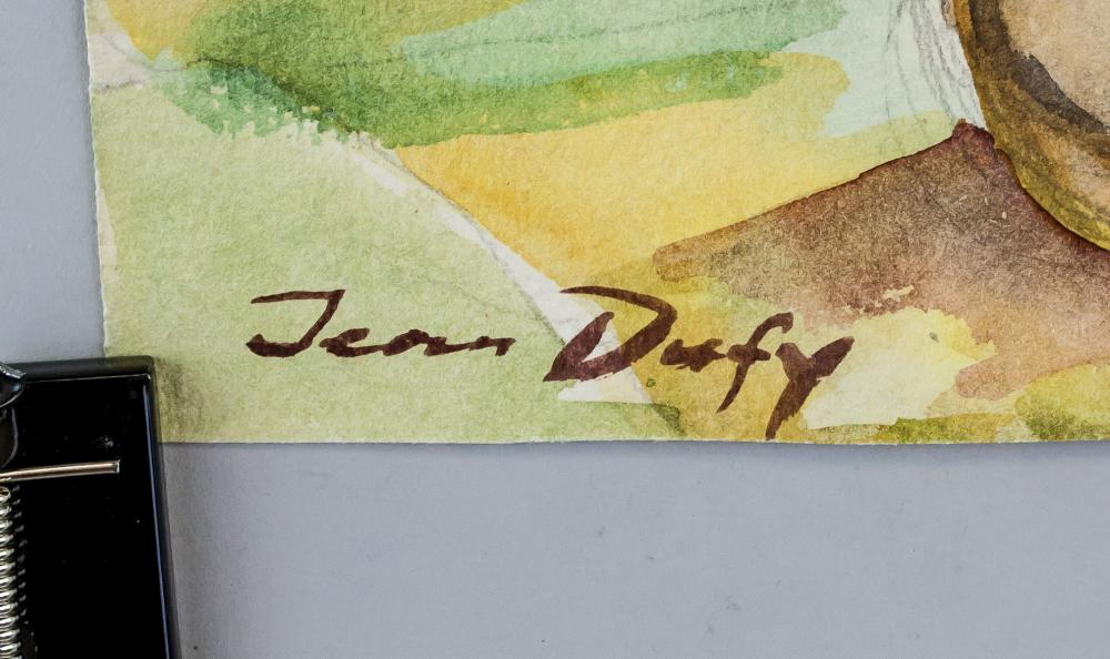 Lot 169: Jean Dufy French Art Deco WC on Paper Signed