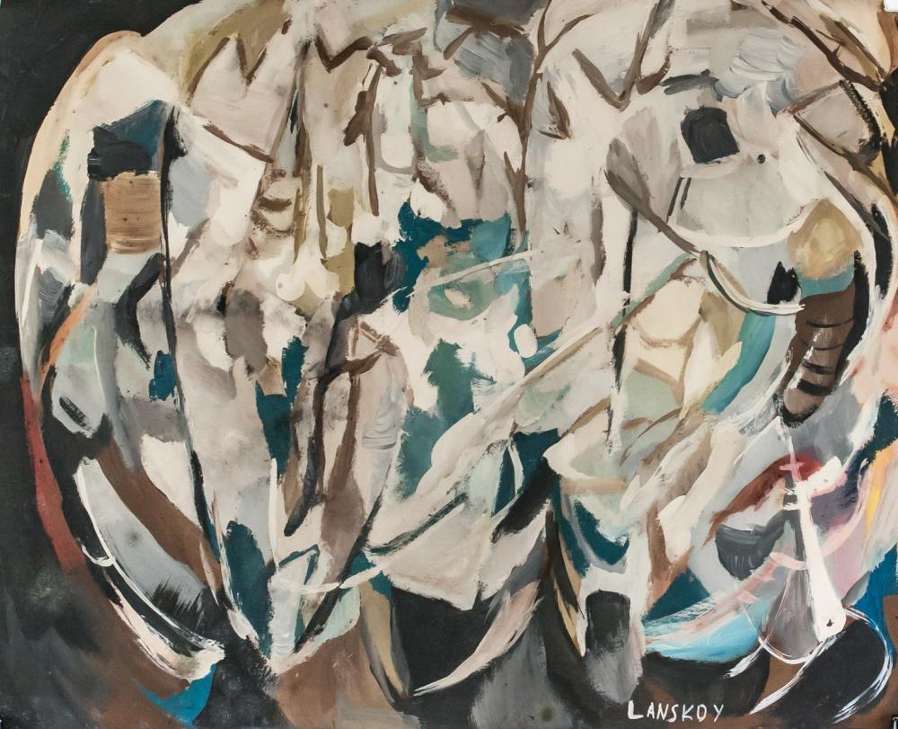 Andre Lanskoy Russian Tachisme Gouache on Paper
