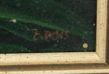 Lot 175: French Impressionist Oil on Panel Signed E. Degas