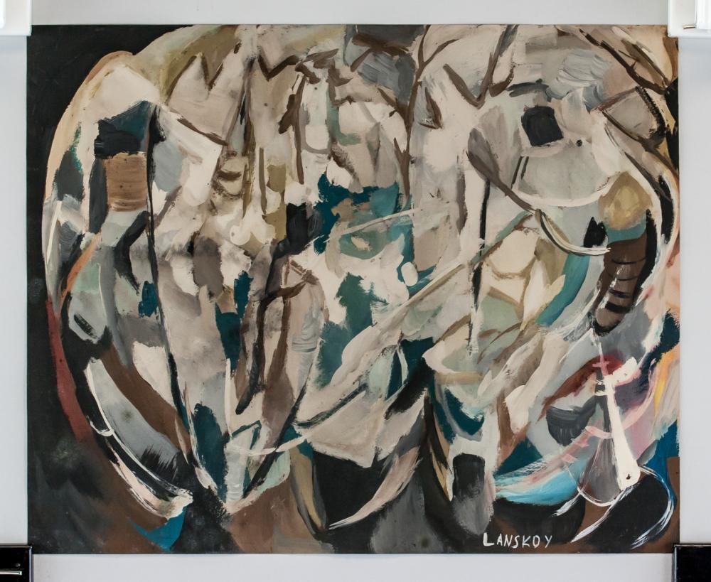 Lot 173: Andre Lanskoy Russian Tachisme Gouache on Paper