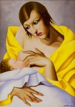 Lot 180: Tamara de Lempicka Polish Art Deco Oil on Canvas