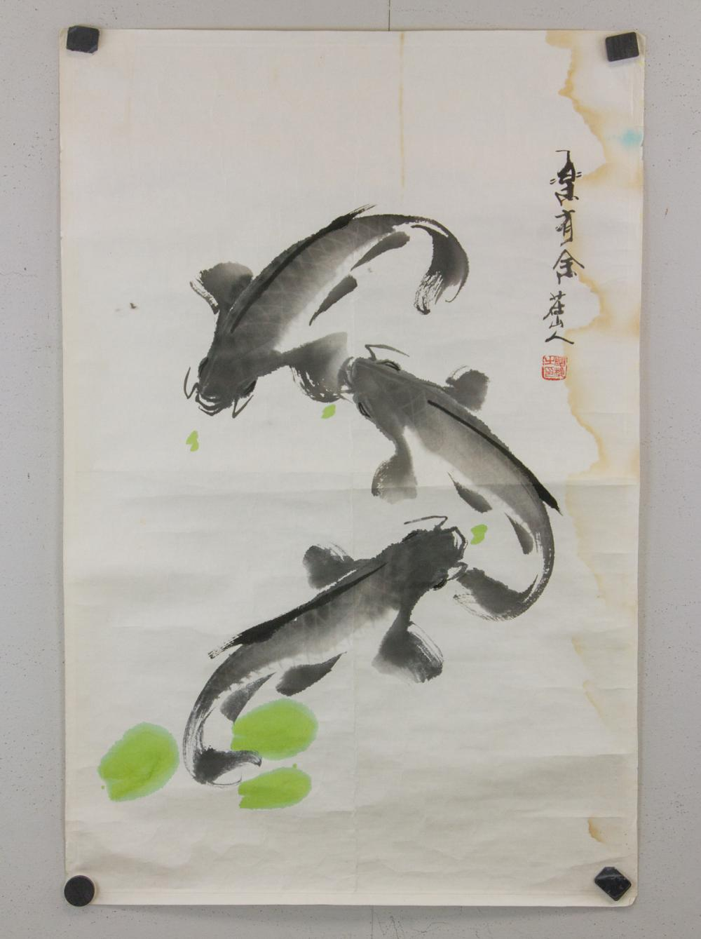 Lot 181: Zhuang Shanren 20th C. Chinese Watercolor Roll