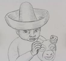 Lot 184: After Diego Rivera Mexican Modernist Sketch Paper