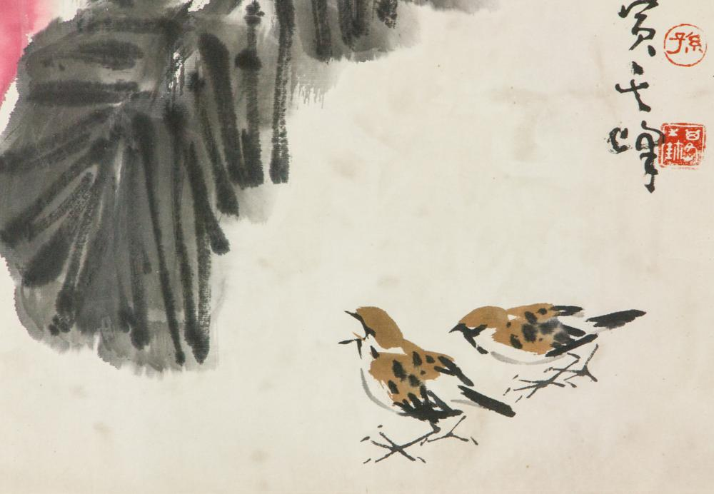 Lot 183: Sun Qifeng b.1920 Chinese Watercolor Paper Roll