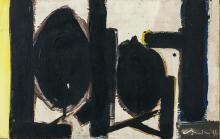Lot 182: Robert Motherwell American Abstract Oil on Canvas