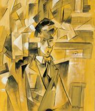 Lot 185: Ivan Puni Russian Cubo-Futurist Gouache on Paper