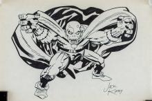 Lot 190: Jack Kirby American Pop Art Ink on Paper
