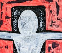 Lot 189: Rufino Tamayo Mexican Surrealist Oil on Canvas
