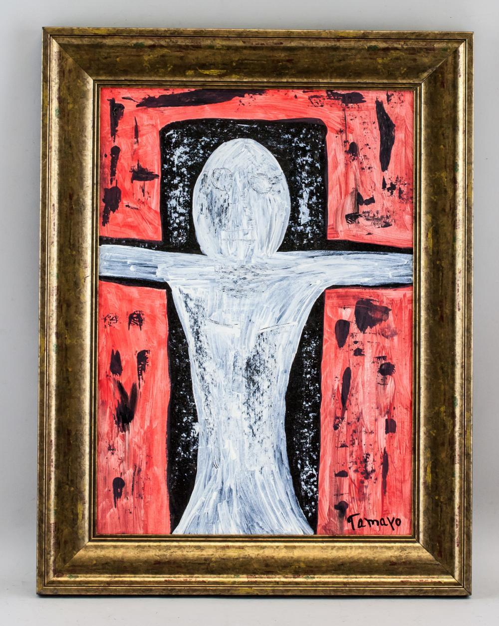 Lot 189: Rufino Tamayo Mexican Surrealist Oil on Canvas