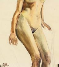 Lot 195: Isaac Israels Dutch Impressionist Watercolor Paper