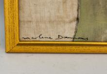 Lot 196: South African School Oil Canvas Signed Illegibly