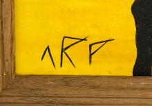 Lot 249: Jean (Hans) Arp French-German Dadaist Oil Canvas
