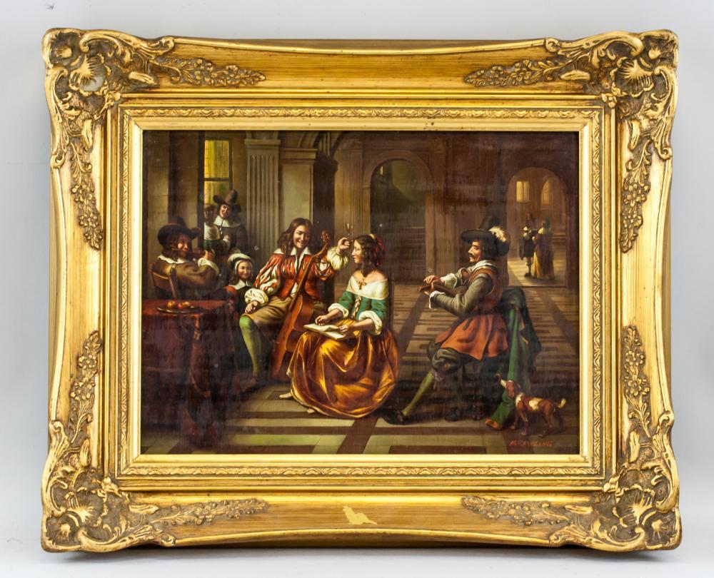 Lot 203: Jacob Membling Austrian XX Oil on Board Portrait