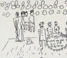 """Lot 210: John Lennon British Pop Pencil on Paper """"1962"""""""
