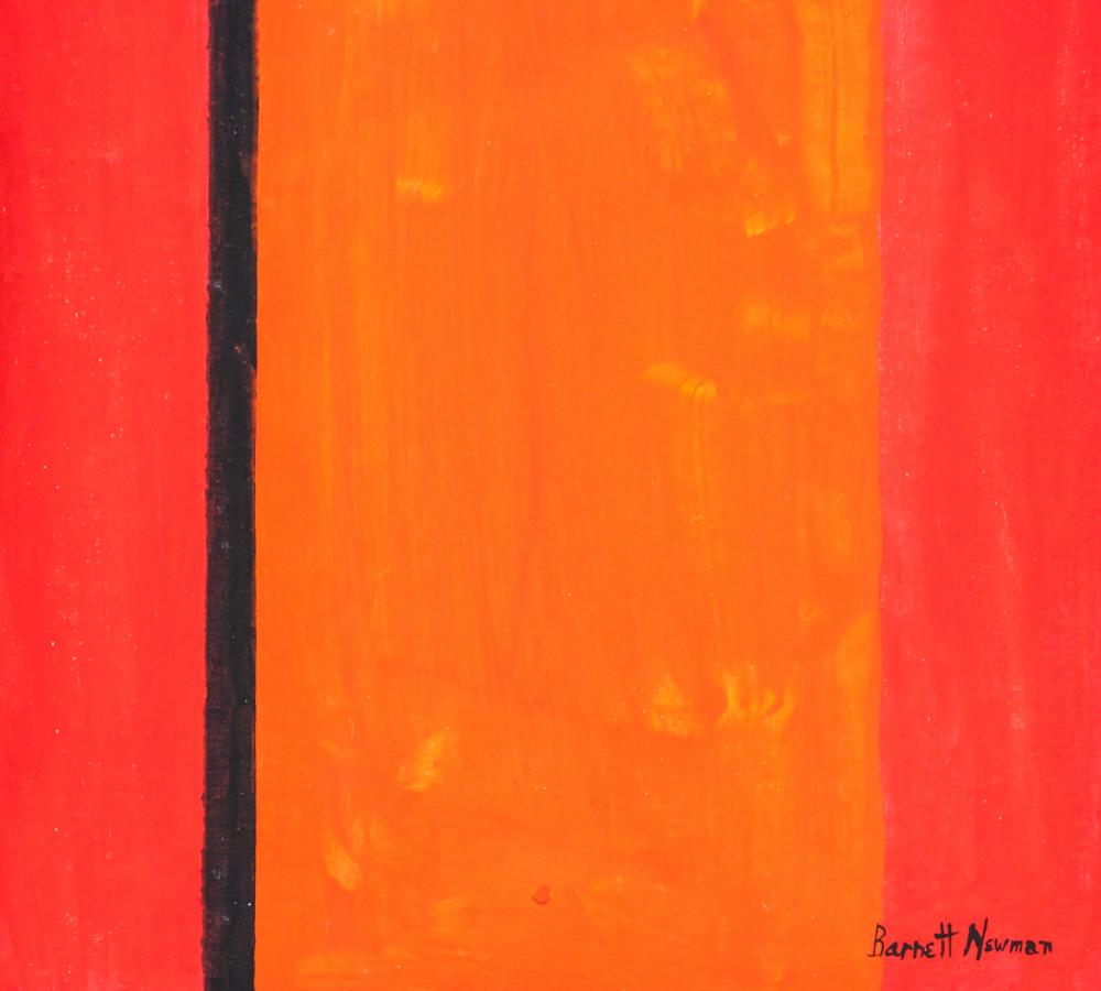 Lot 212: Barnett Newman American Abstract OOC Label