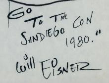 Lot 217: Will Eisner American Pop Marker on Paper