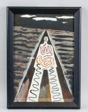 Lot 225: Man Ray American Abstract Acrylic Paper